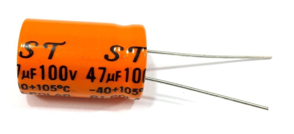Kit 10 Capacitores Bipolar 47X100 e 10 de Poliester 2m2x250