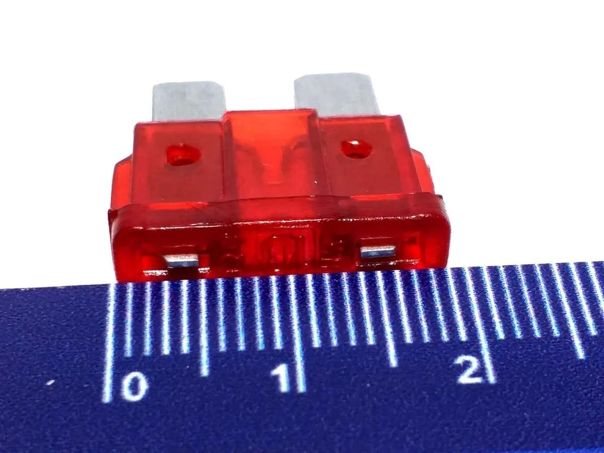 Kit 10 Porta Fusível Lâmina fio de 4mm e 10 Fusiveis de 10A