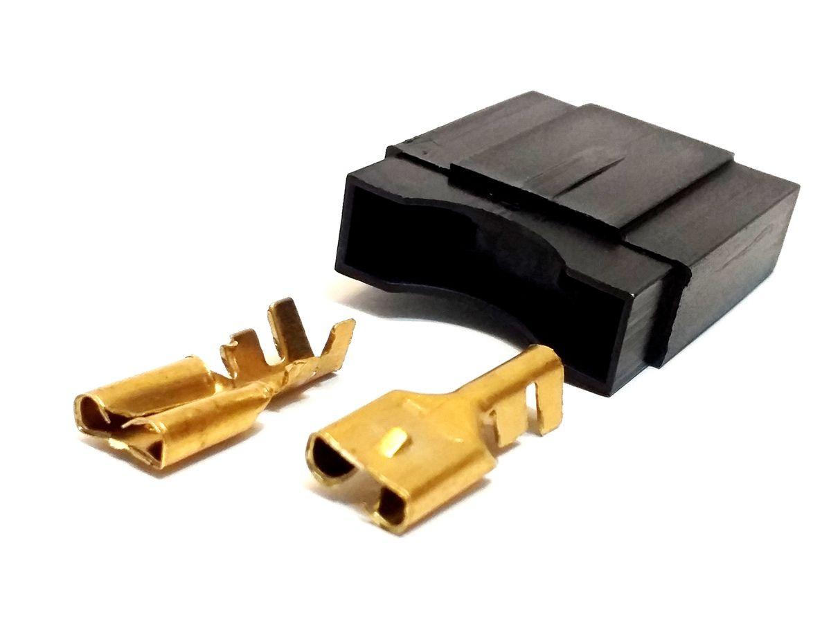 Kit 10 Porta Fusível Max e 10 Fusíveis Lâmina Max 80 Amperes