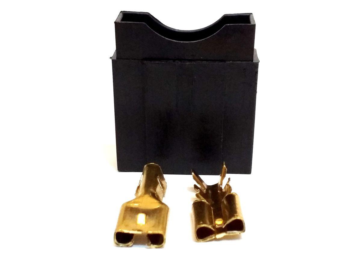 Kit 10 Porta Fusível Max Grande e 10 Fusíveis de 60 Amperes