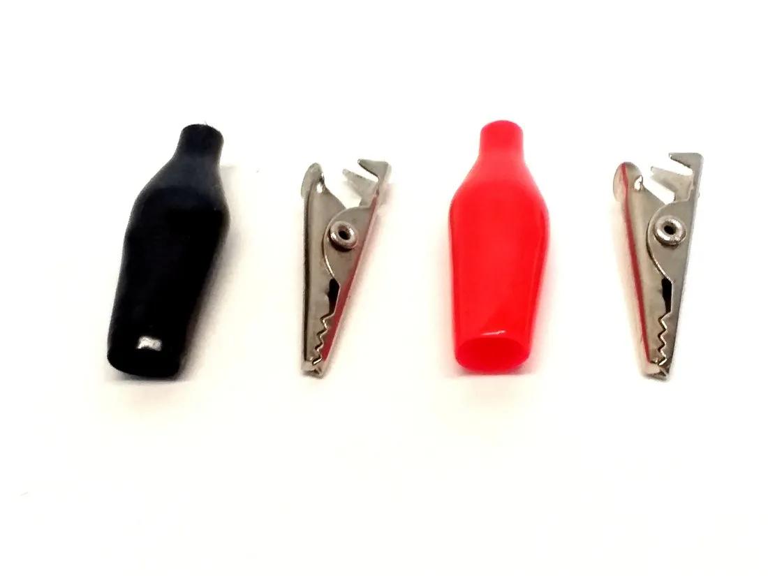 kit Garras Jacaré 28mm Pequena Vermelha e Preta 10 Pares