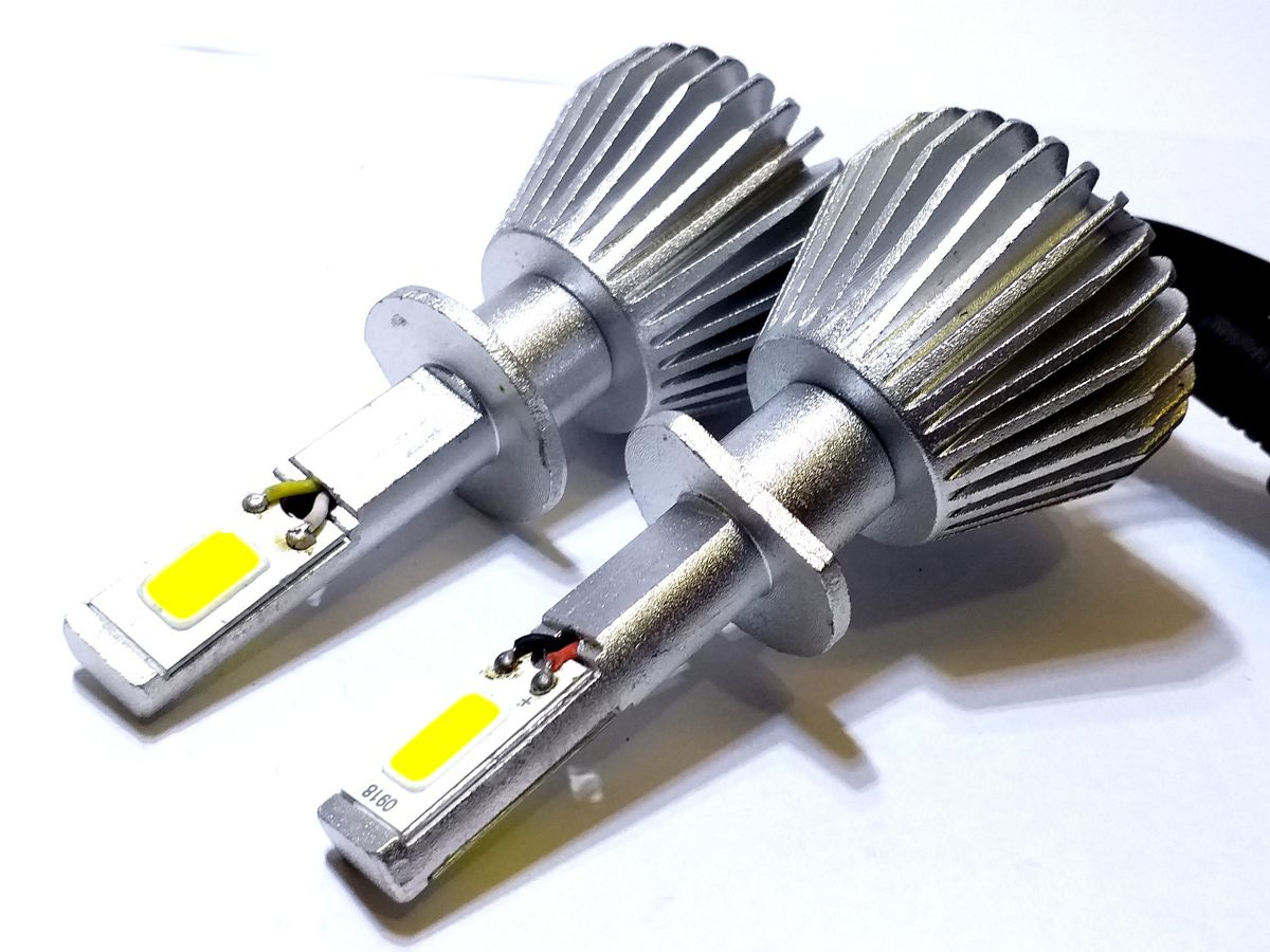 KIT LÂMPADA SUPER LED 2D H1 - 40W 8000K - E-TECH - 3200 LUMIENS - PAR