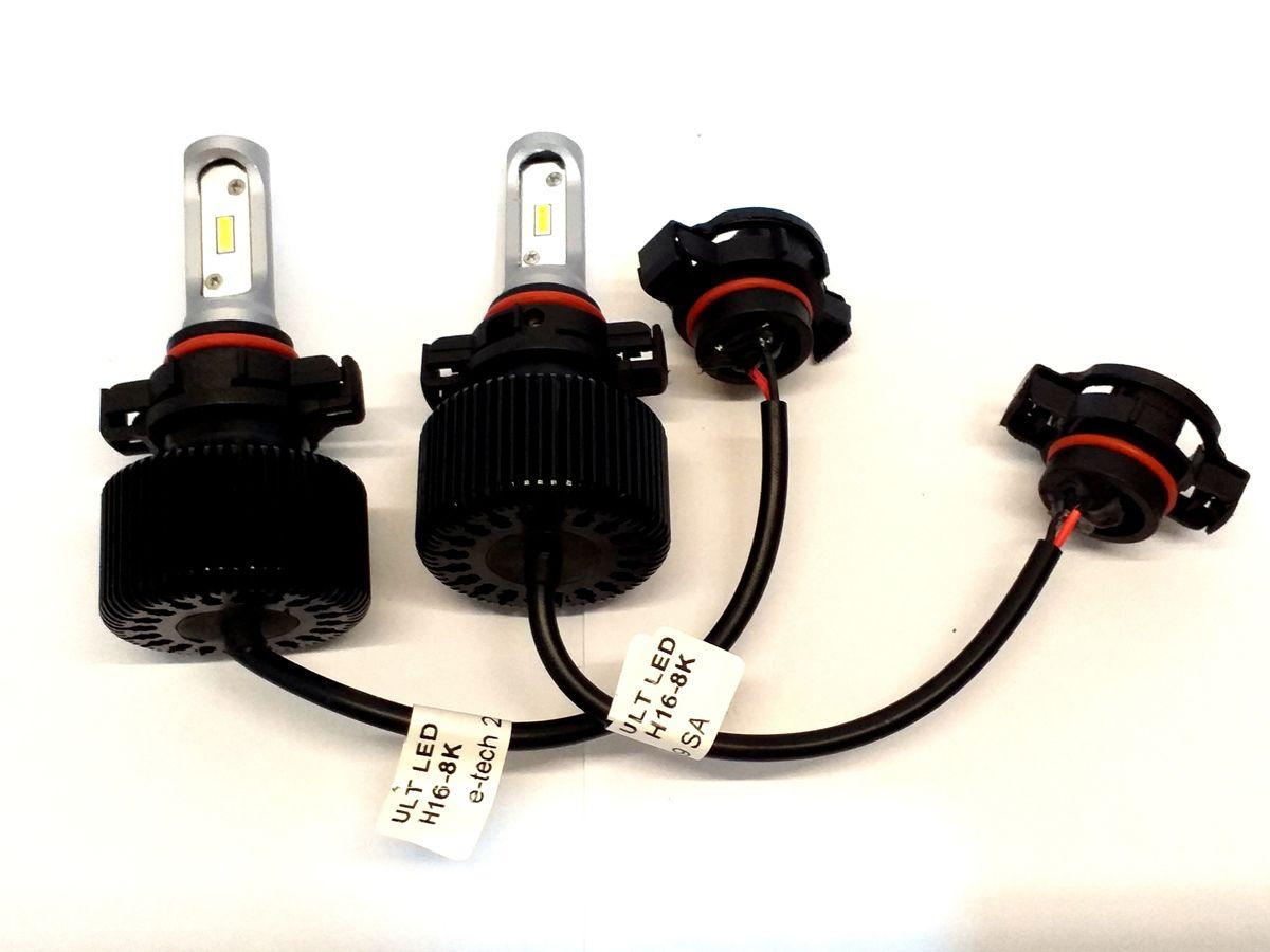 KIT LÂMPADA ULTRA LED H16 - 40W 8000K E-TECH - 6000 LUMIENS