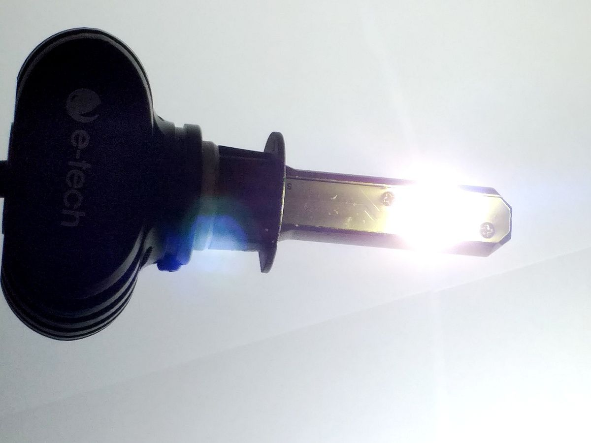 KIT LÂMPADA ULTRA LED H27 - 40W 8000K E-TECH - 6000 LUMIENS