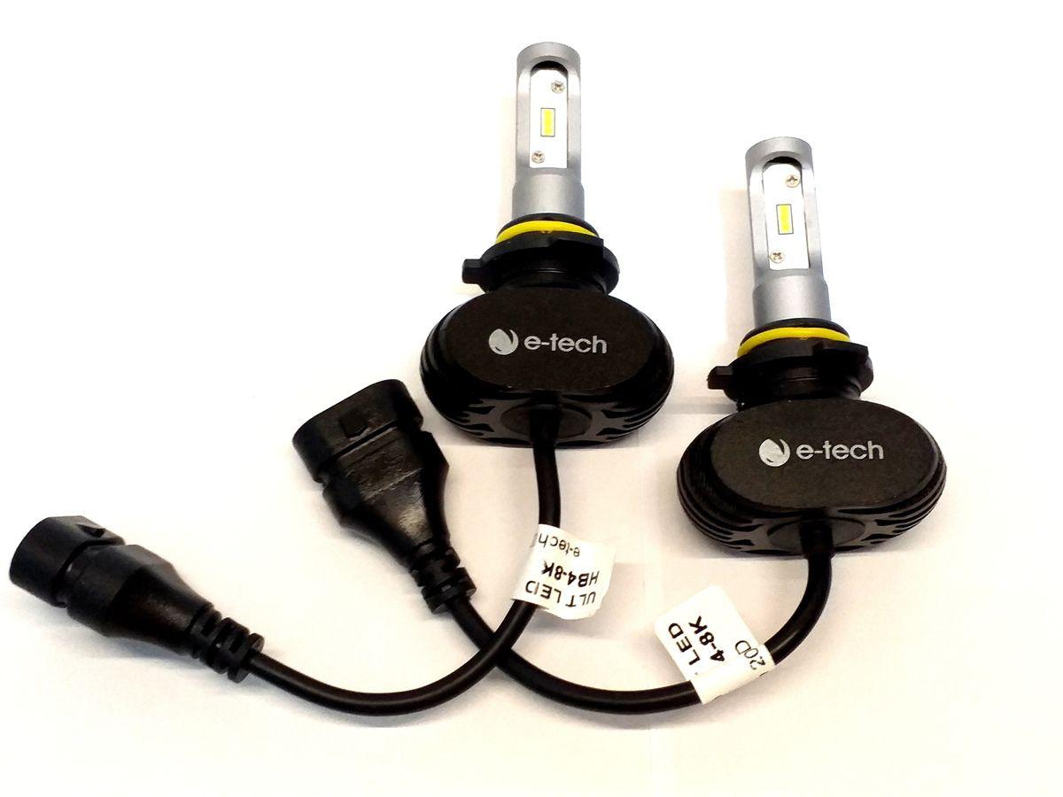 KIT LÂMPADA ULTRA LED HB4 - 40W 8000K E-TECH - 6000 LUMIENS