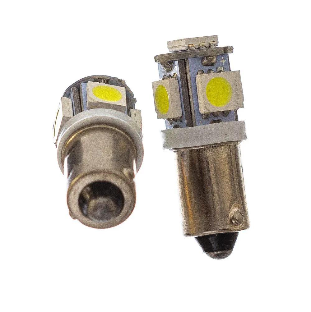 LÂMPADA 69 5 LEDS SDM 5050 SUPER BRANCO BA9S 12 VOLTS PAR