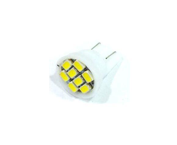 LÂMPADA PINGÃO 8 LEDS - PINGO T10 - SUPER BRANCO - PAR
