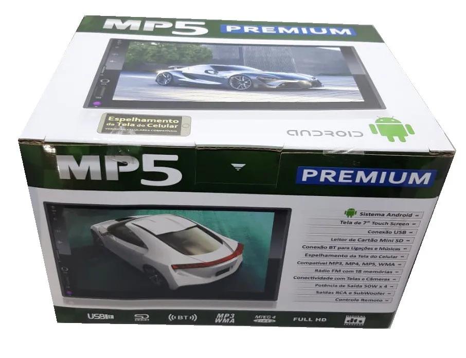 "MP5 PREMIUM 2 DIN ANDROID BLUETOOTH GPS 7"" ESPELHAMENTO USB"