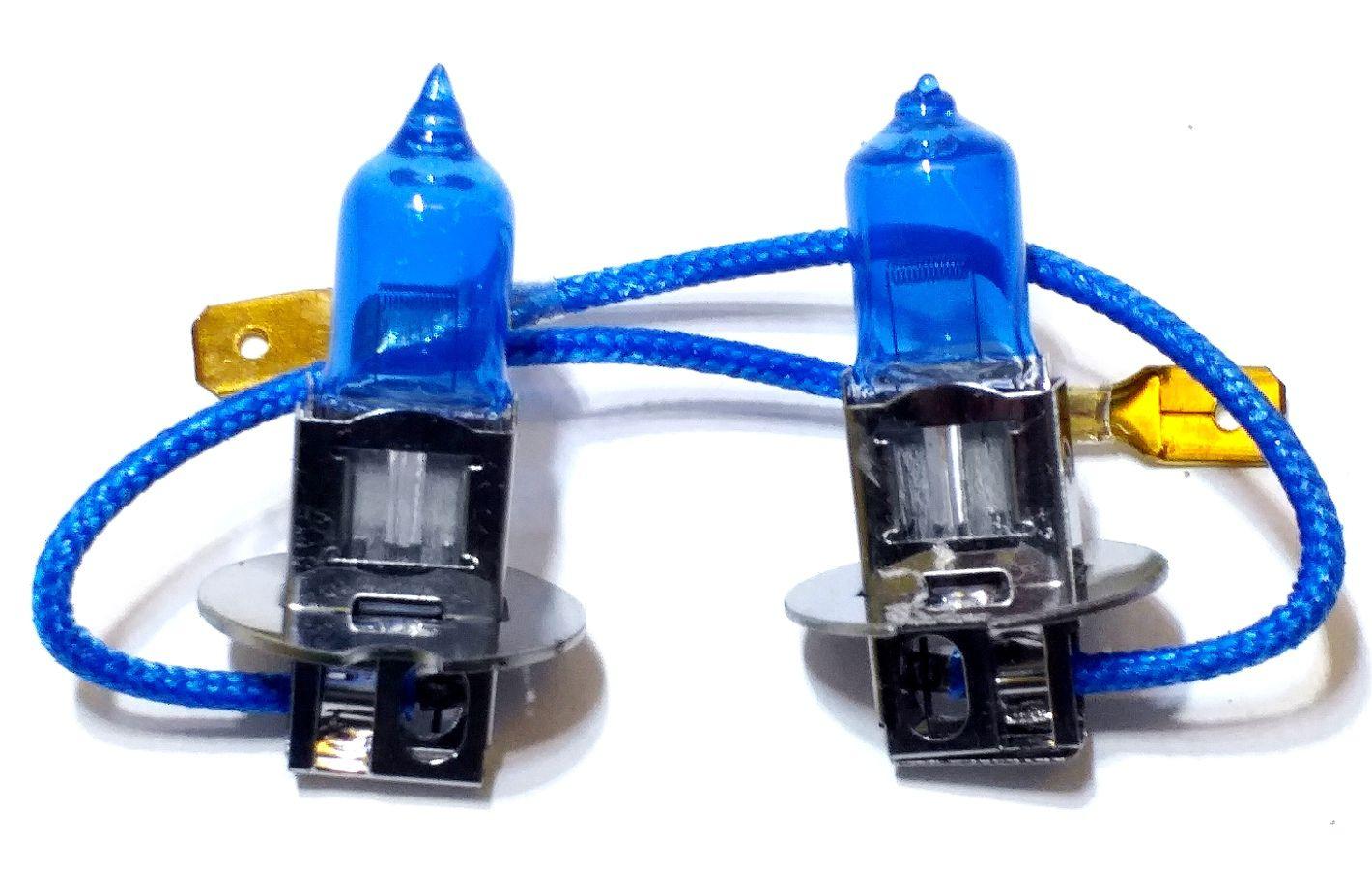 PAR LÂMPADA SUPER BRANCA H3 12V X 55W - 12 VOLTS / 55 WATS - QUALYTEN 8500K EFEITO XENÔN