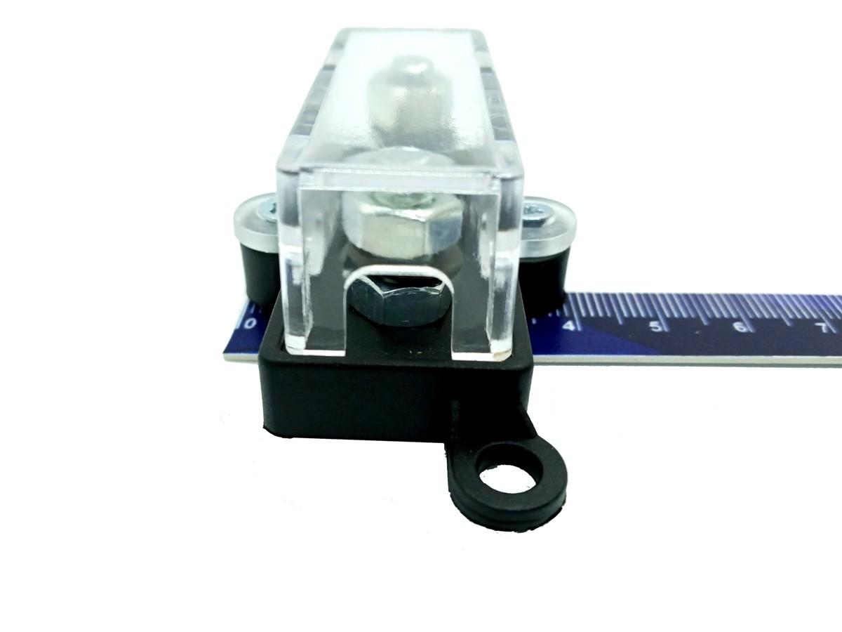 Porta Fusível Acrílico Automotivo e 2 Fusíveis Mini Faca 100