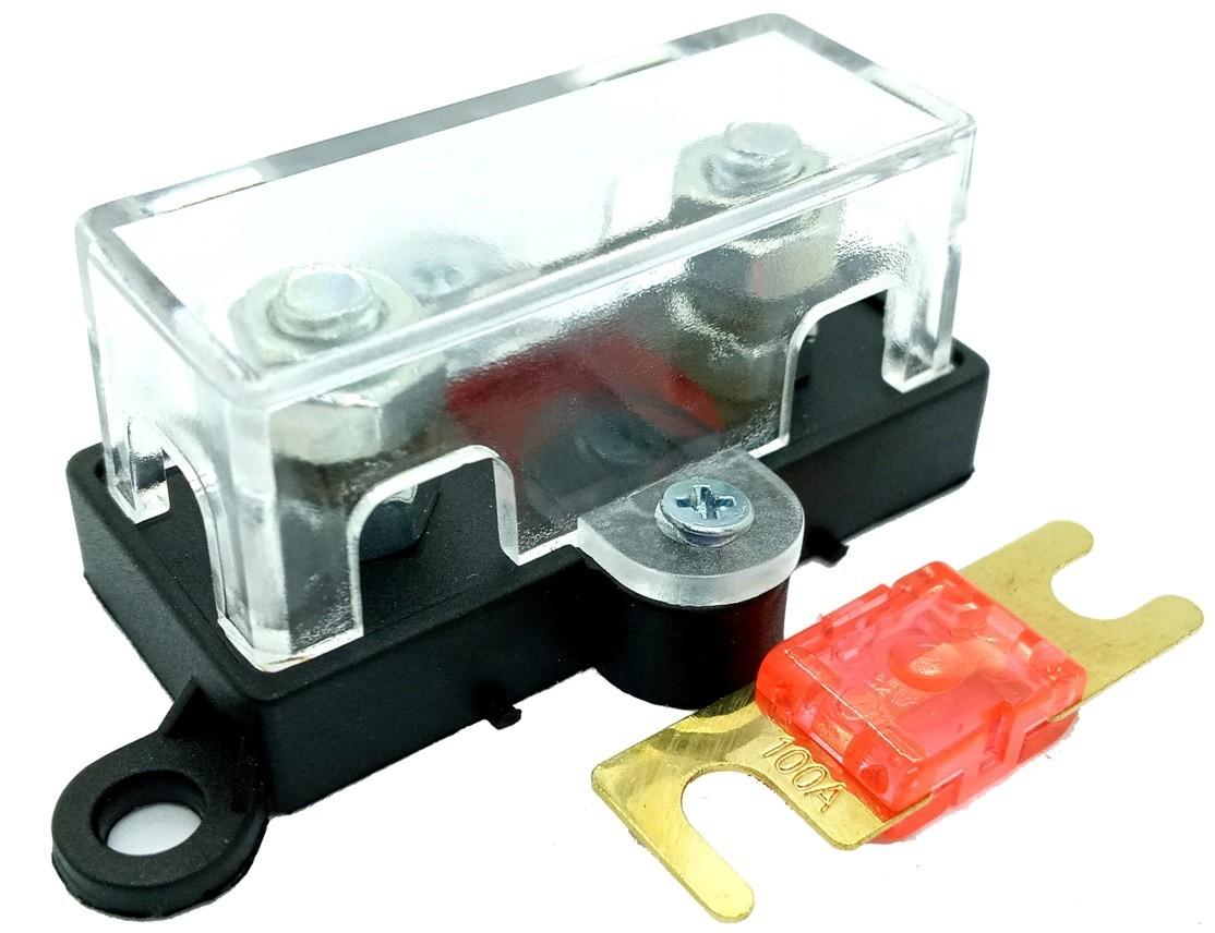 Porta Fusível Automotivo Midi mais Fusível Mini Faca 100 Amp