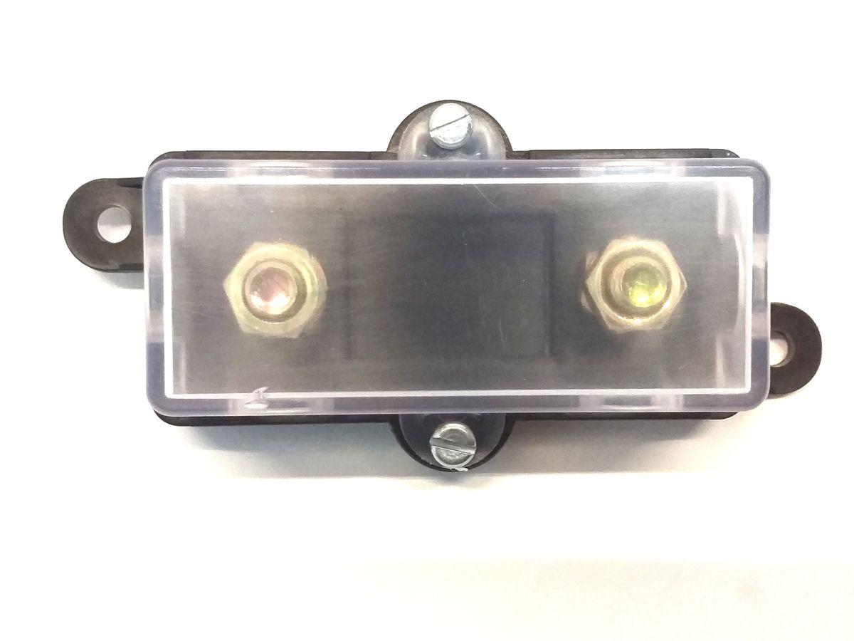 Porta Fusivel Mega Acrilico e Fusível de 100 Amperes