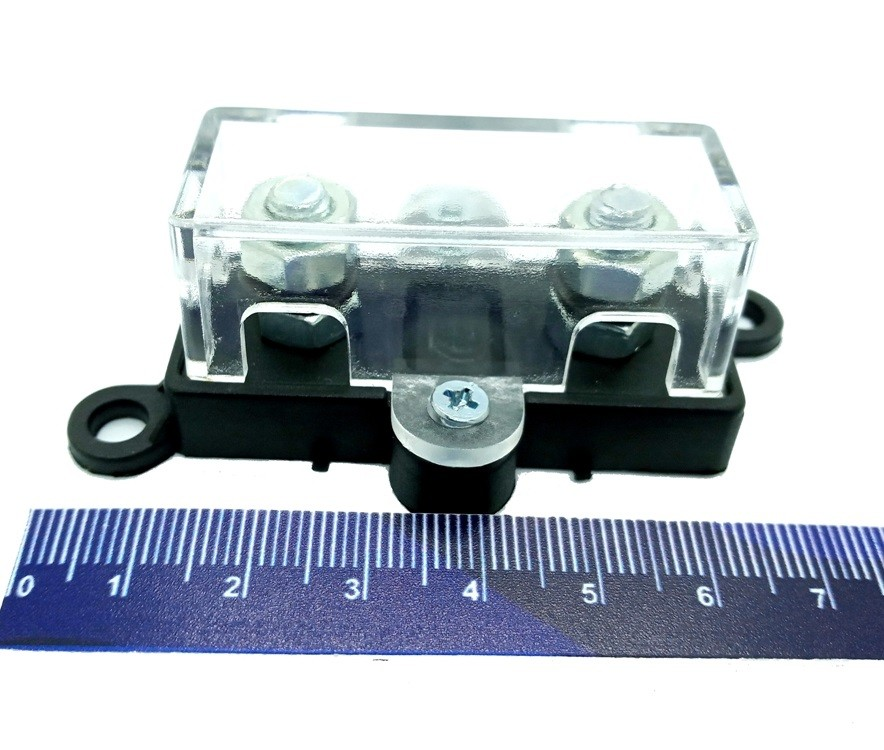 Porta Fusível Midi de Som Automotivo e 3 Fusíveis 100 Amper