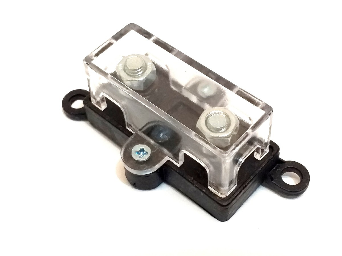 Porta Fusível Midi Pequeno e 2 Fusíveis Mini Faca 40 Amperes
