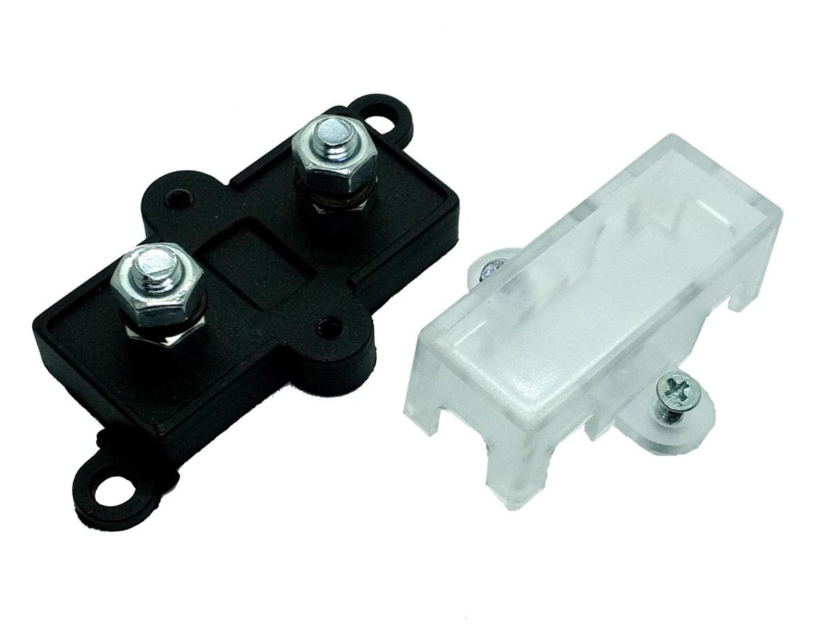 Porta Fusível Midi Pequeno e Fusível Mini Faca de 50 Amperes