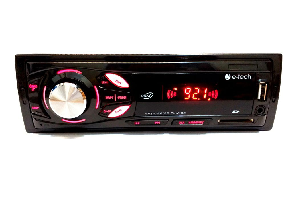 RADIO AUTOMOTIVO MP3 FM USB SD BT -C/ BLUETOOTH E-TECH LIGHT