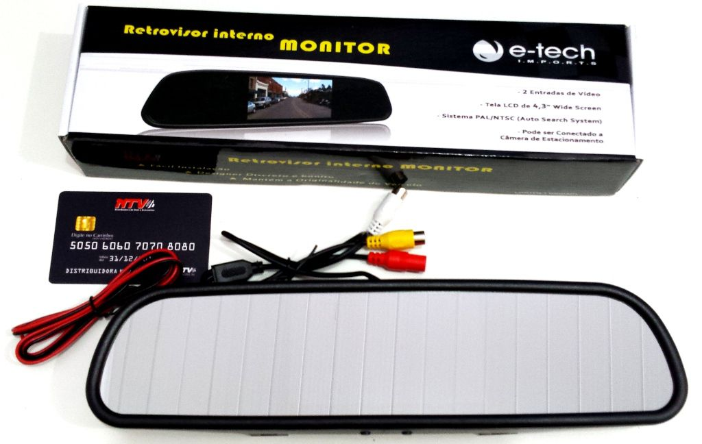 RETROVISOR INTERNO COM MONITOR TELA LCD
