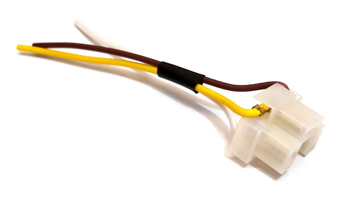 SOQUETE DO FAROL H4 EM NYLON - FIO 1,5MM - CONECTOR PLUG H4