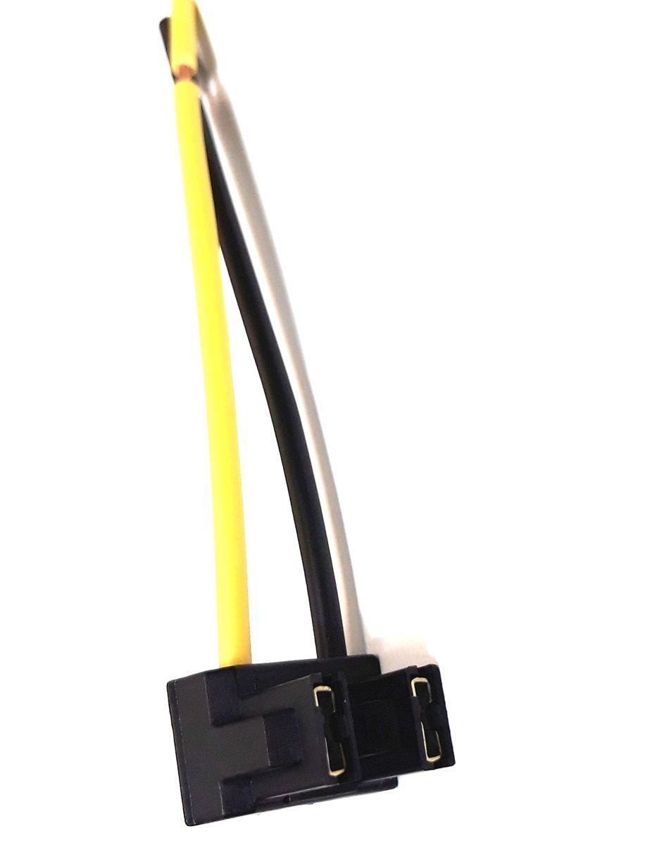 SOQUETE DO FAROL H7 EM NYLON - FIO 1,5MM - CONECTOR PLUG H7