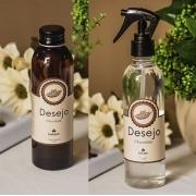 Kit Calda de Banho e Homes Spray Linha Desejo aroma de Chocolate + Caixa para presente