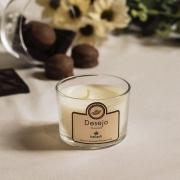 Vela aromática de massagem vegetal Desejo - Chocolate 100g