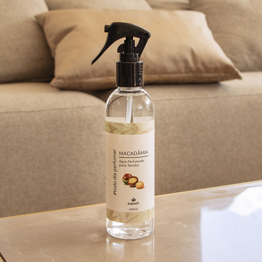 Água perfumada para tecidos - Macadâmia - 240mL