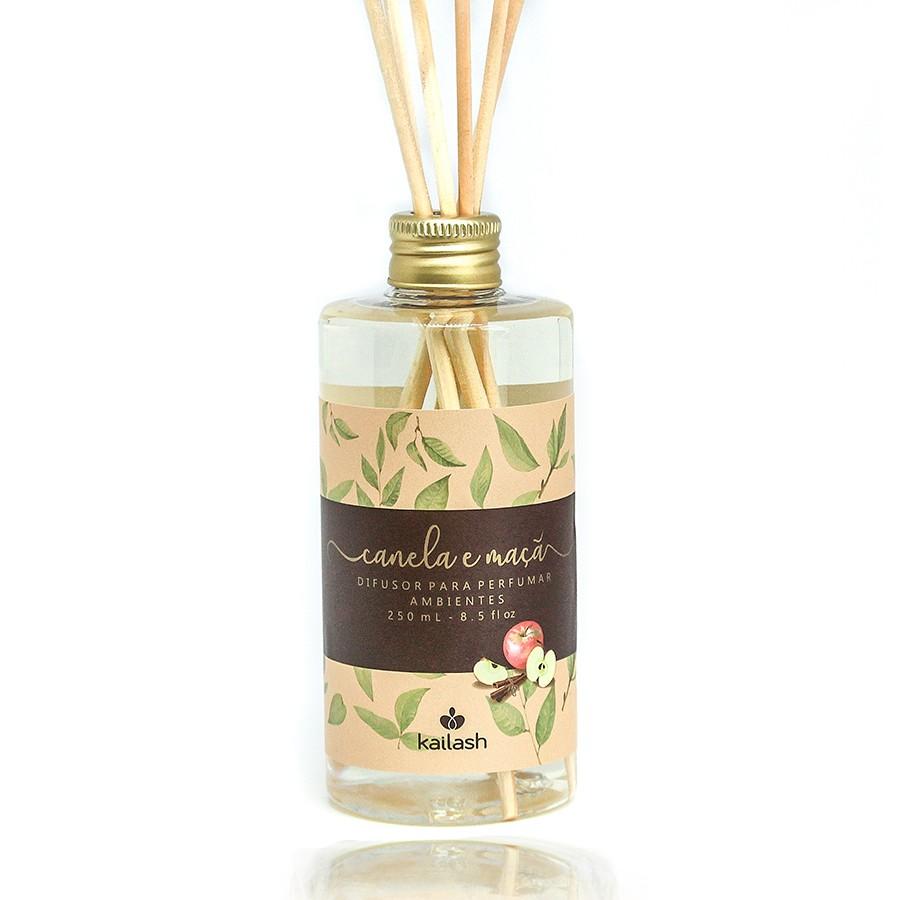 Difusor Econômico de Perfume para Ambientes Canela e Maçã 250ml