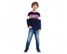 Camiseta Infantil Masculina Meia Malha - KYLY 207213