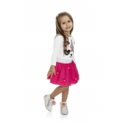 Conjunto Infantil Blusa e Saia - MARLAN 22572