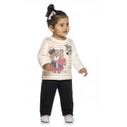 Conjunto Infantil Feminino Blusa e Calça - ELIAN 211142