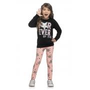 Conjunto Infantil Feminino Blusa e Lagging - ELIAN 251407