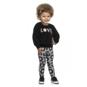 Conjunto Infantil Feminino Blusa e Legging - ELIAN 231461