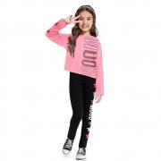 Conjunto Infantil Feminino Blusa E Legging Moving - KYLY 207501