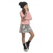 Conjunto Infantil Feminino Blusa e Saia Shorts ELIAN 251405