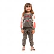 Conjunto Infantil Feminino Blusão e Calça - MARLAN 27113