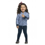 Conjunto Infantil Feminino Jaqueta e Legging - ELIAN 231459