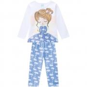 Pijama Infantil Feminino Blusa E Calça - KYLY 207524