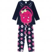Pijama Infantil Feminino Blusa E Calça - KYLY 207529