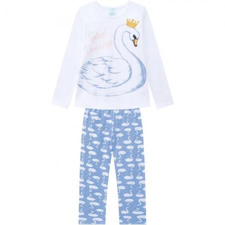 Pijama Infantil Feminino Blusa E Calça - KYLY 207531