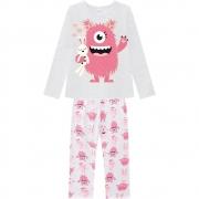 Pijama Infantil Feminino Blusa E Calça - KYLY 207532
