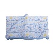 Toalha Soft com Capuz de Centro Barquinhos - 80 cm x 90 cm