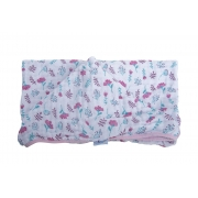 Toalha Soft com Capuz de Centro Florzinhas - 80 cm x 90 cm