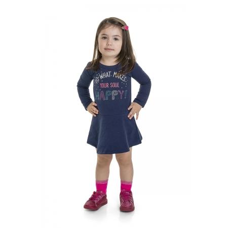 Vestido Infantil Molecotton  - MARLAN 22569