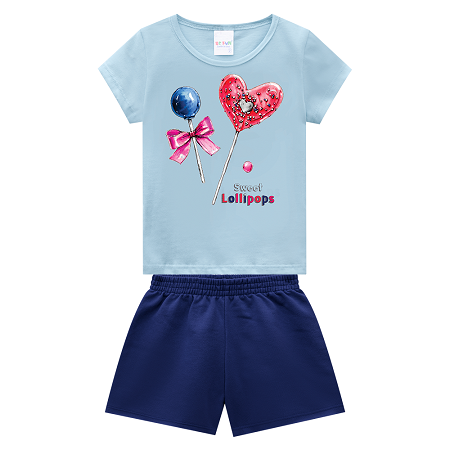 BE FUN 2047 - CONJUNTO BLUSA E SHORTS