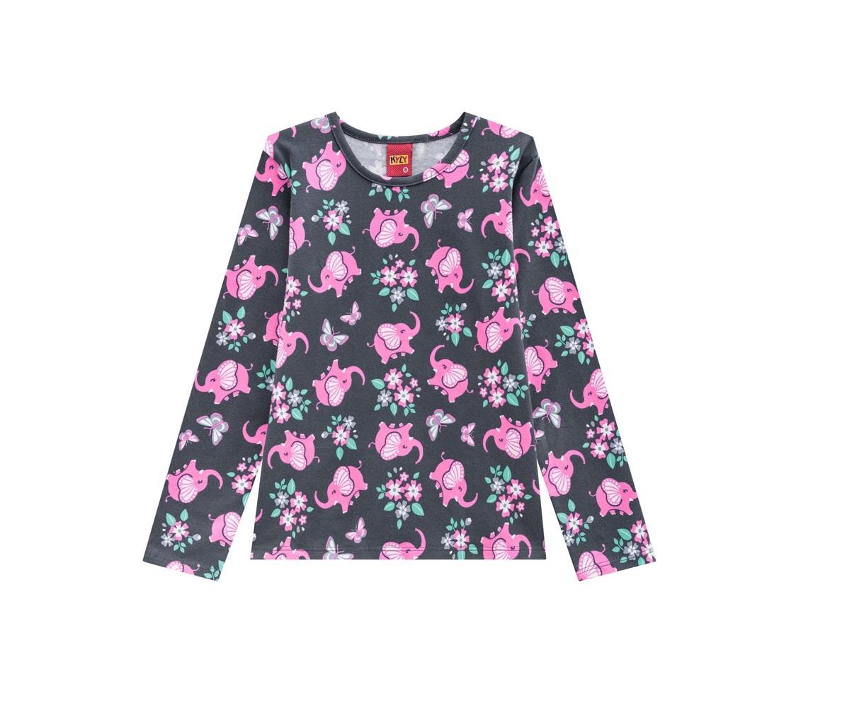 Blusa Infantil Feminina Cotton -  KYLY 205595