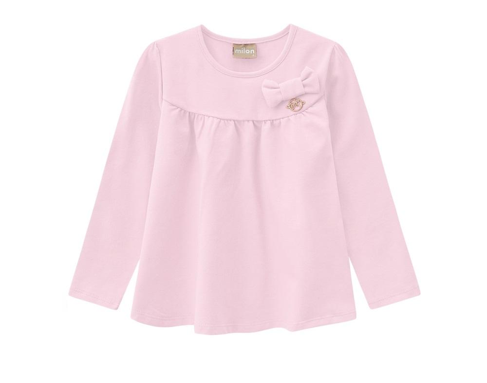 Blusa Infantil Feminina Cotton - MILON 7399