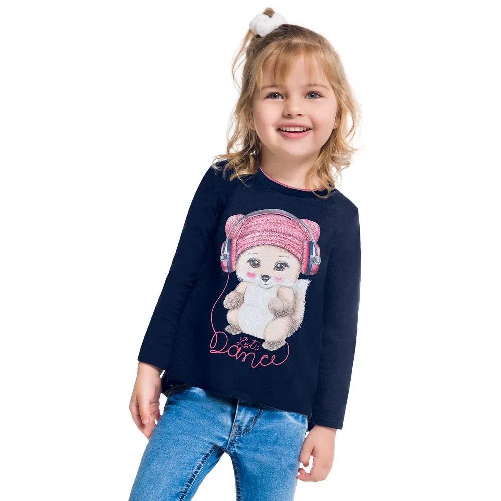 Blusa Infantil Feminina Kyly Meia Malha -  207361
