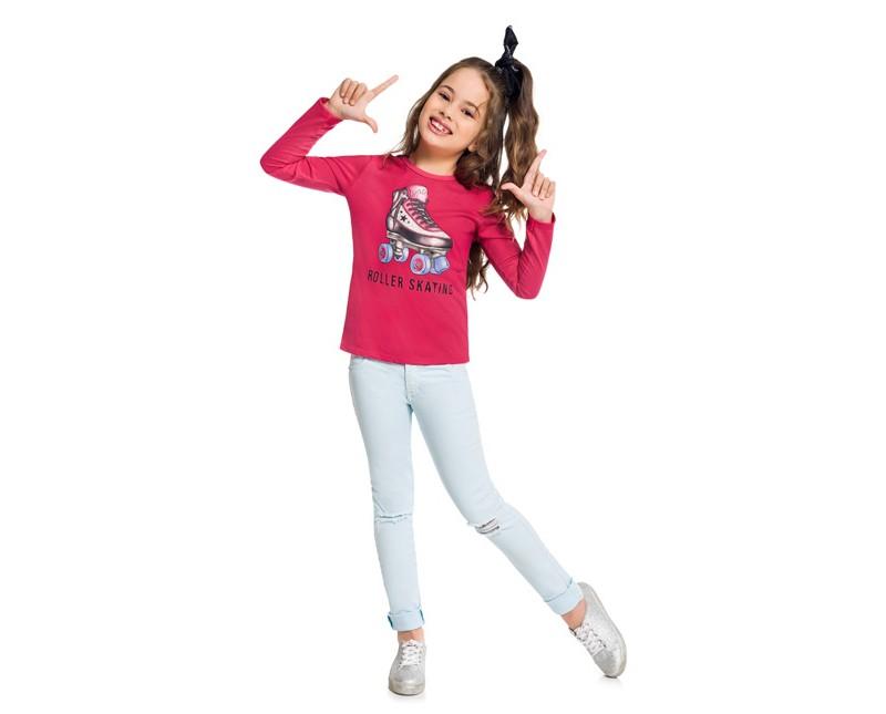 Blusa Infantil Feminina Kyly Meia Malha-  KYLY 207140