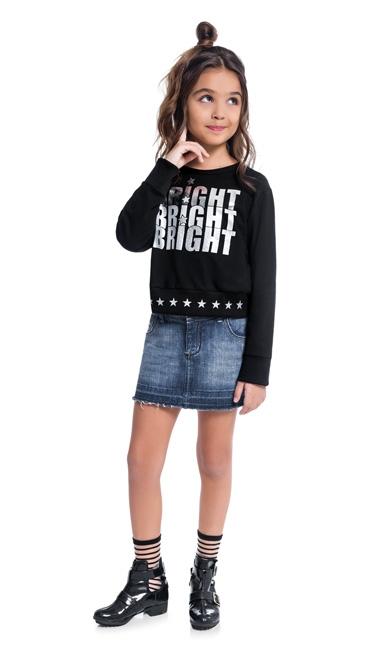 Blusa Infantil Feminina Kyly Moletinho - KYLY 207145