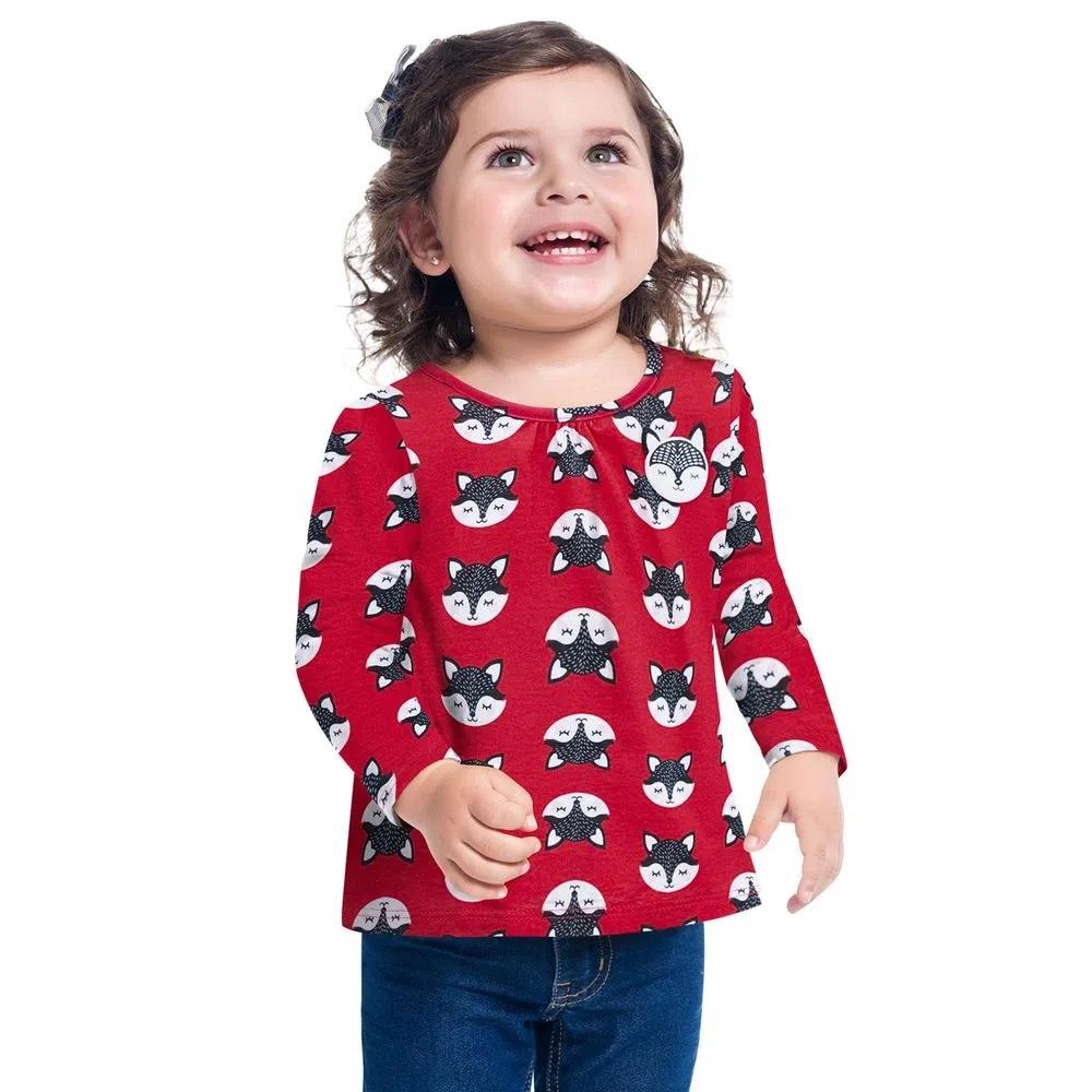Blusa Infantil Feminina Meia Malha - KYLY 207333